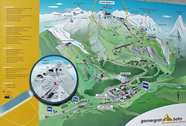 Gornergrat Bahn map Zermatt