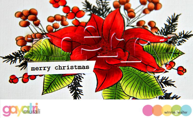 Merry Merry Christmas closeup