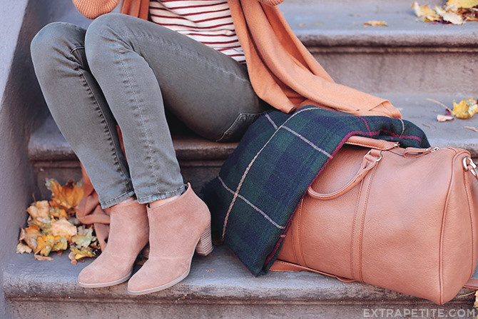 Fall outfit - sole society ankle boots olive jeans
