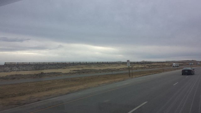 Long train in Wyoming