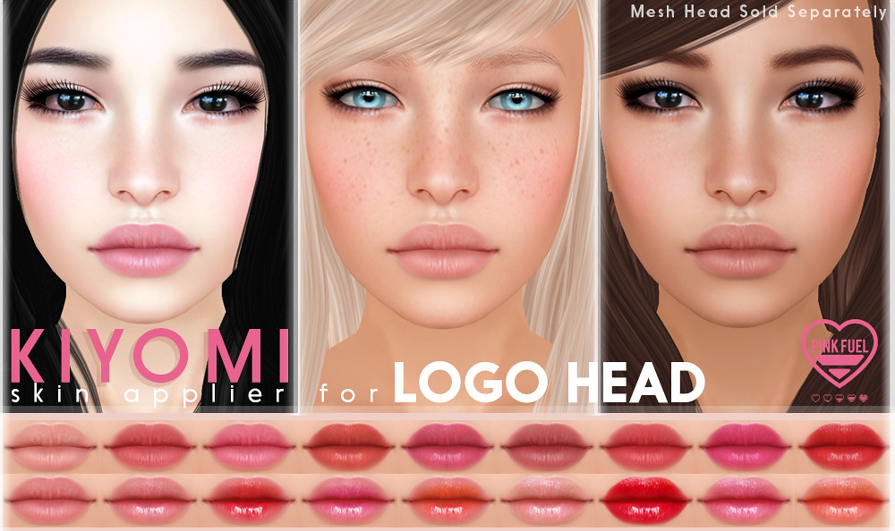 [Pink Fuel] Kiyomi LOGO Mesh Head Appliers for We <3 RP (December)