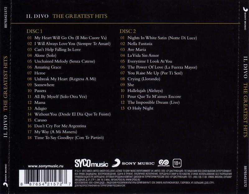Billboard music il divo the greatest hits 2012 wav - Il divo greatest hits ...