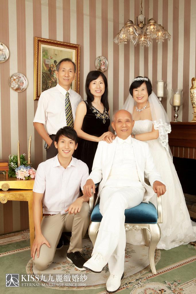 高雄週年照推薦Kiss九九麗緻婚紗 讓爸媽有個浪漫金婚週年 (3)