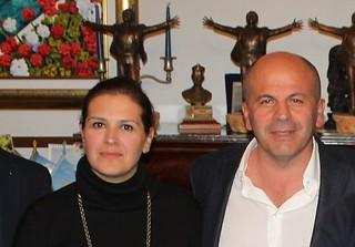L'assessore Mariella Annese e il sindaco Vitto