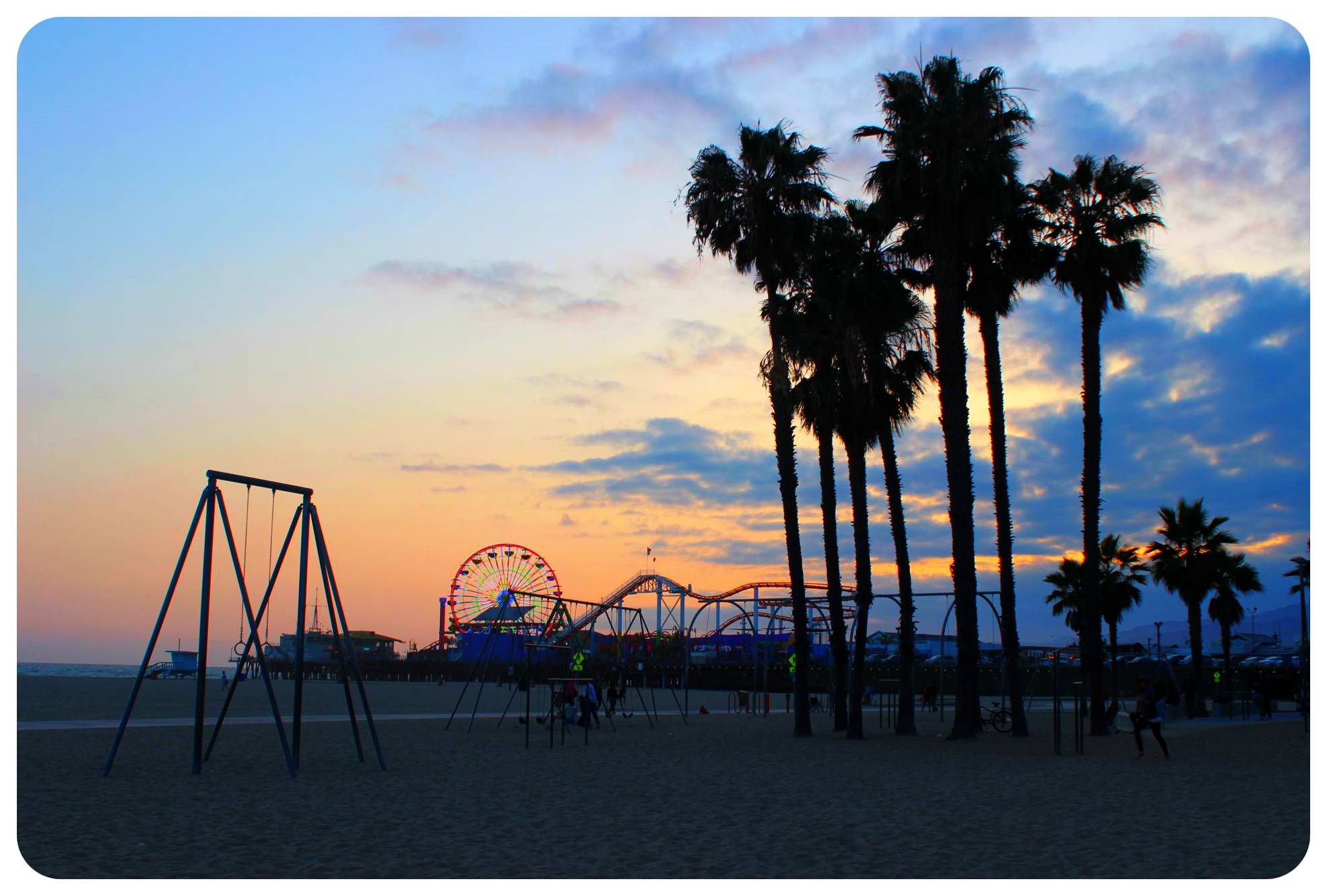 santa monica sunset pier