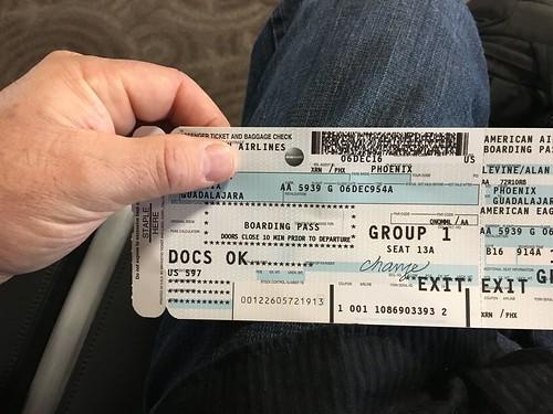 Old Skool Plane Ticket