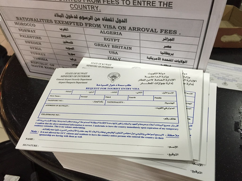 Getting a visa on arrival at Kuwait
