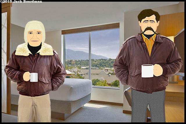 Chris and Wyatt spent the night in Salt Lake City