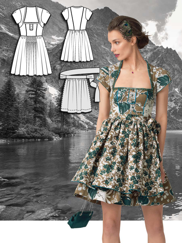 Darling dirndls 5 new dress patterns sewing blog for Dirndl fa r mollige
