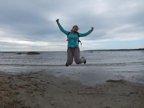 Bruce Peninsula NP - springen op Singing Sands
