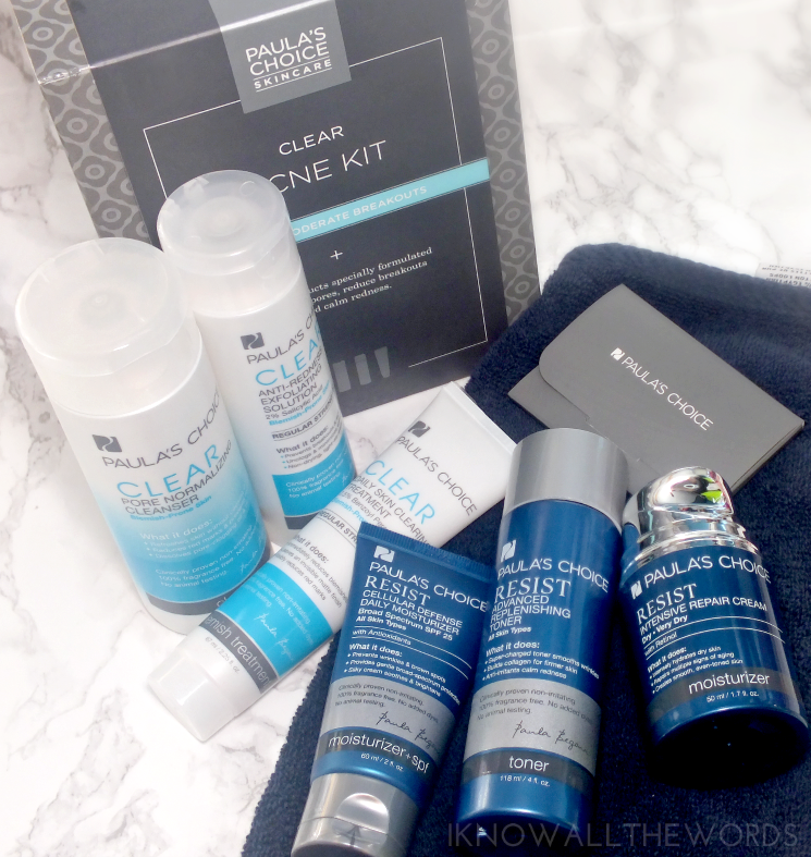 my Paula's Choice routine Clear Acne Kit + Resist