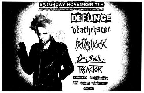 11/7/15 Defiance/Deathcharge/Hellshock/DogSoldier/Reactor