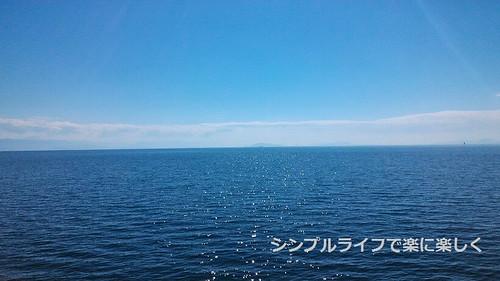 竹生島、船からの景色
