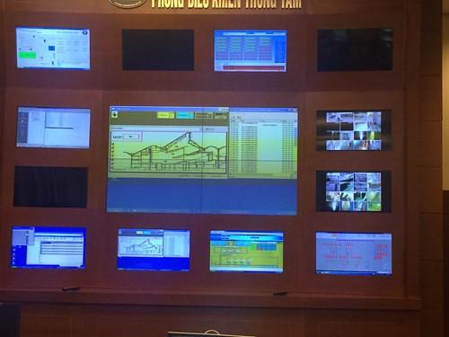 Phòng điều khiển quản lý của trung tâm hội nghị Quốc Gia ứng dụng hệ thống iBMS.