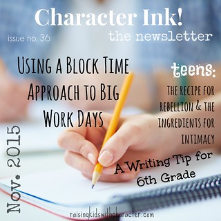 Character Ink Newsletter No. 36