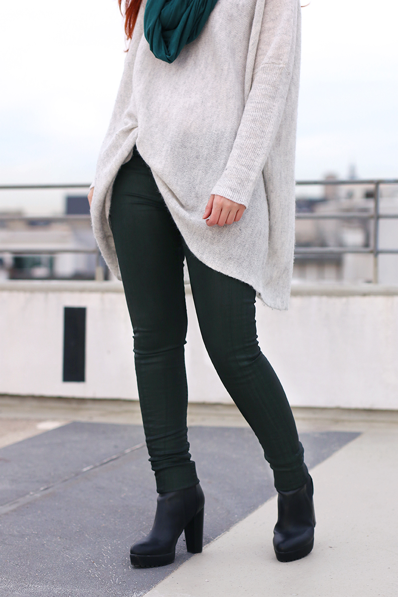 Dark green Pepe Jeans Jeans and oversized knit
