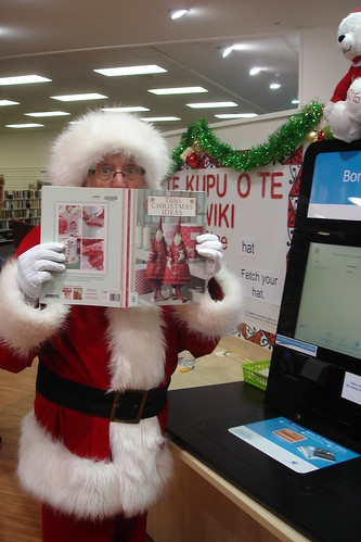 Santa at the self-check