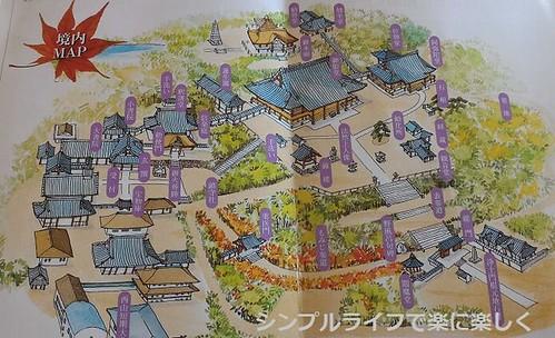 光明寺、境内マップ
