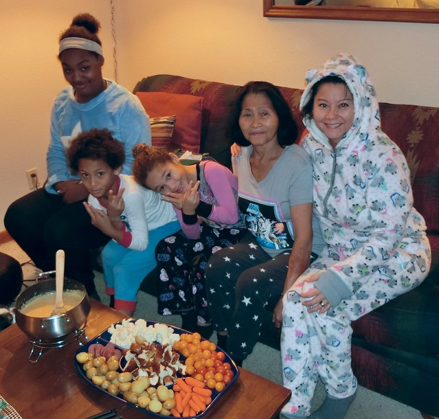 Pajama Fondue Party