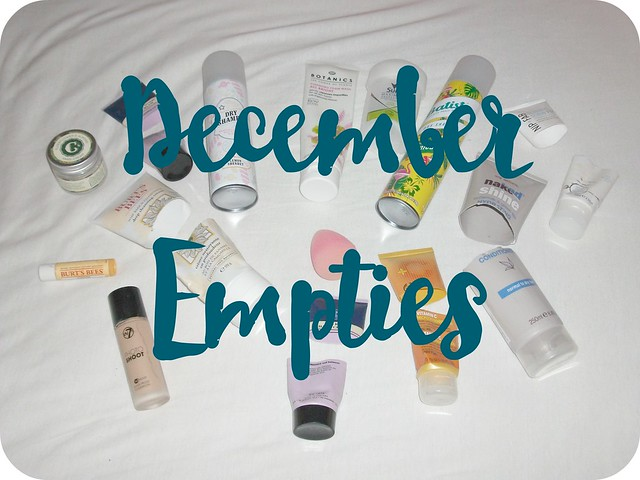 December 2015 Beauty Empties