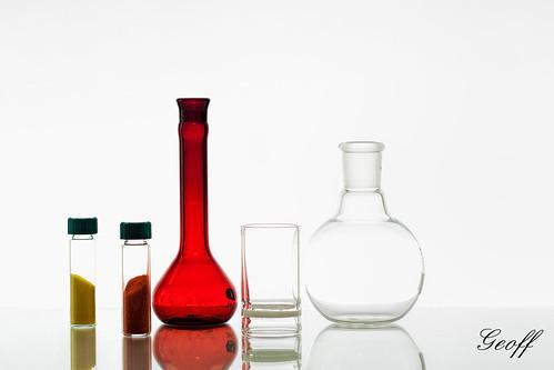 Chemistry Glassware on White