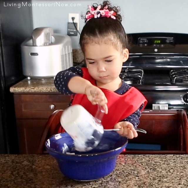 Making the Quick and Easy Playdough at 2 Years