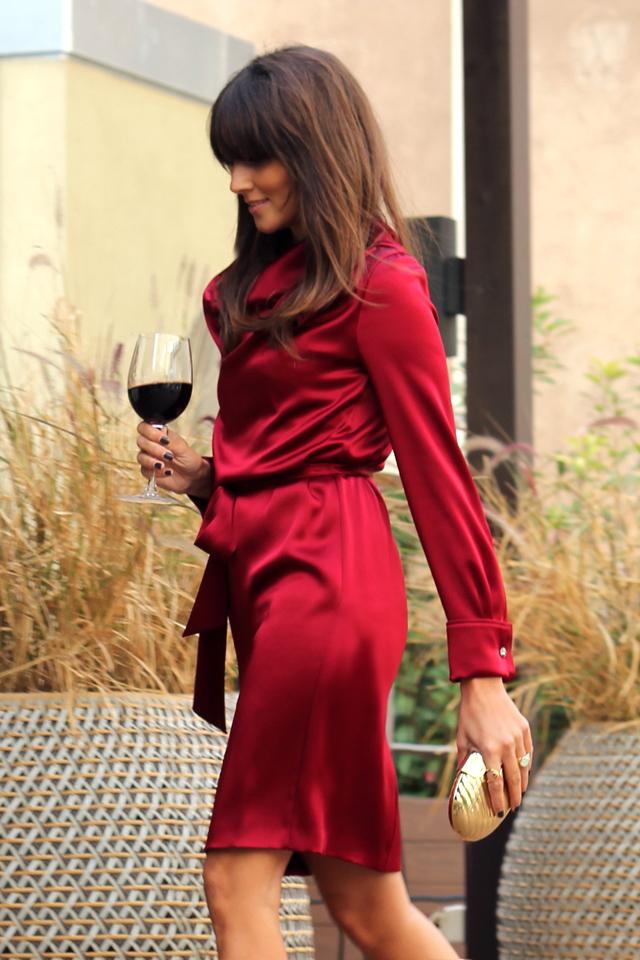 escarda red dress coohuco 14