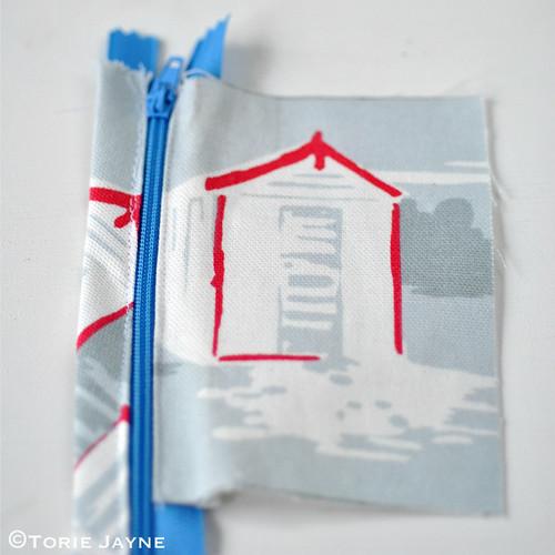 Boys Handmade folded Zip Wallet tutorial 3