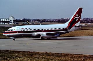 9H-ABF B737-200 Air Malta BHX 14-02-89