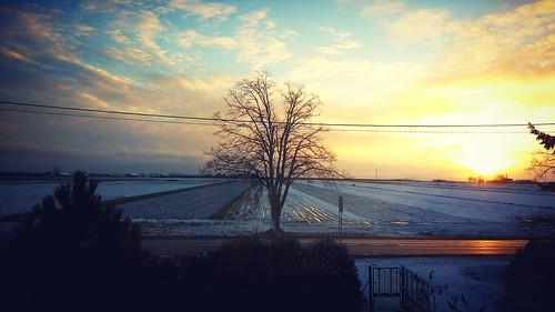 sunrise polska poland village landscape