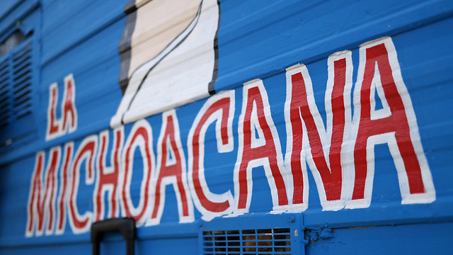 La Michoacana Taco Truck in Ames, Iowa