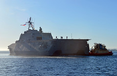 USS Montgomery (LCS 8) arrives at its new San Diego homeport, Nov. 8. (U.S. Navy/Seaman Trenton Kotlarz)