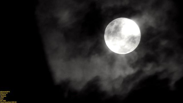 Supermoon with cloud as the veil..