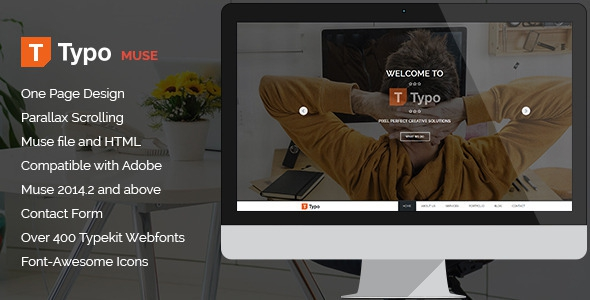 Typo v1.0 - One Page MUSE Template
