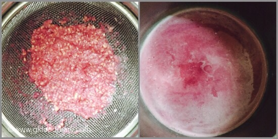 Pomegranate Juice- step 4
