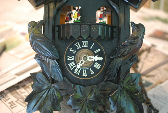 Cuckoo Clock Getting Put Back Together