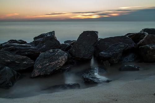 ocean summer sky beach clouds sunrise rocks nj atlantic og le day224 2015 monmouthbeach day224365 12aug15 365the2015edition 3652015