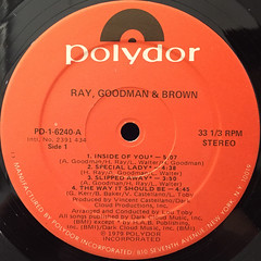 RAY,GOODMAN & BROWN:RAY,GOODMAN & BROWN(LABEL SIDE-A)