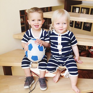 Matching outfits for these cute cousins!