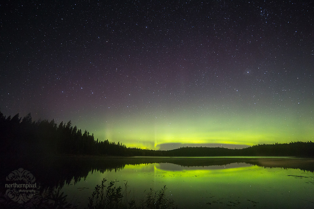Northern Lights Reflections   Prince George BC