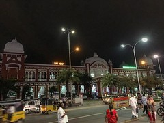 #chennai #egmorestation #building #India #Indianrailway #iPhone #iphonephotography #igers #HDR #ancient #historic #night #southern