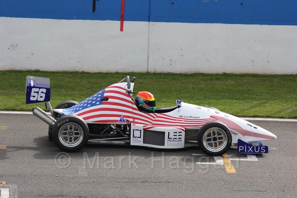 Lee Morgan in Formula Jedi at Donington, September 2015