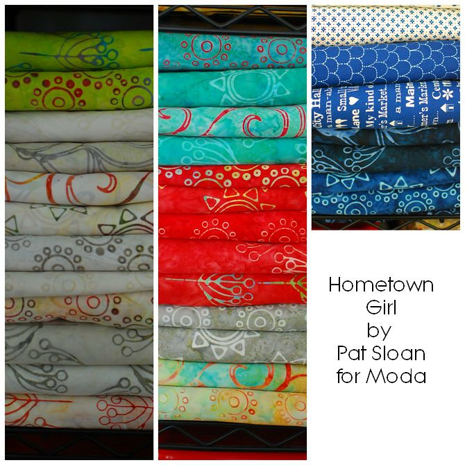 pat sloan Hometown Girl batik collage