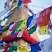 Prayer flags at Boudhanath by Claire Ingram