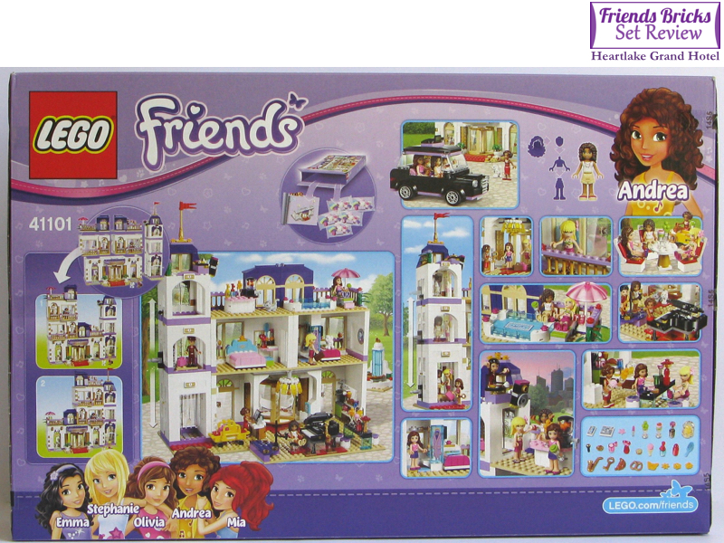 LEGO STICKER SHEET ONLY for 41101 Lego Friends Grand Hotel
