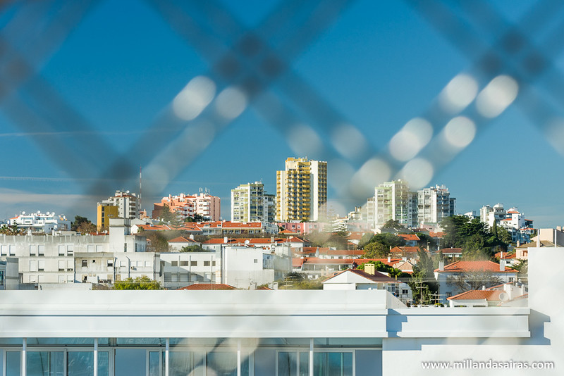 Vistas de los edificios y hoteles desde lo alto de la noria