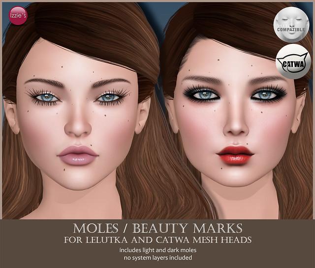 Moles/Beauty Marks (Lelutka & Catwa Appliers)