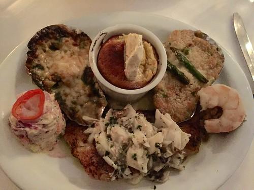 "Brigtsen's seafood platter (aka the ""Shell Beach Diet"")"