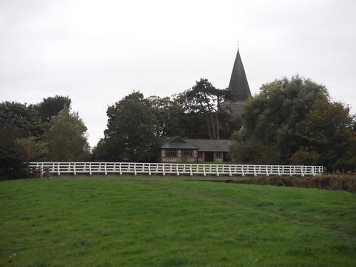 Alfriston, church and bridge over the Cuckmere