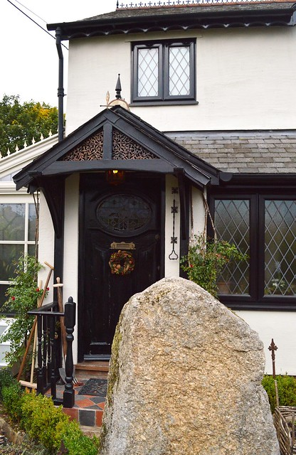 The labrynth stone at Talliston House, Great Dunmow, Essex